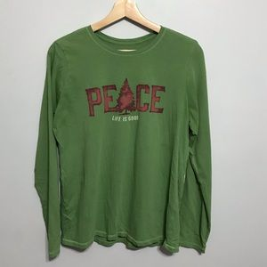 Life is Good Peace Evergreen Tee Tee Shirt
